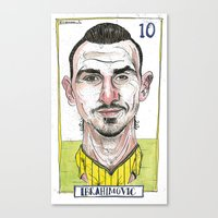 Canvas Print featuring ZLATAN by BANDY