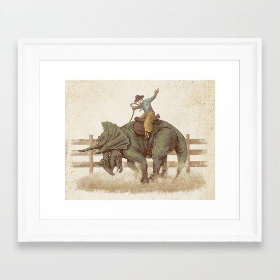 Dino Rodeo  Framed Art Print