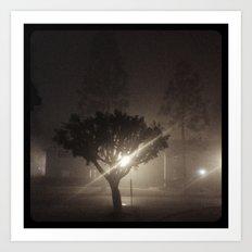 Evening fog. Art Print