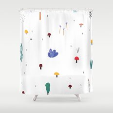 forest flare Shower Curtain