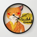 Because I'm a Wild Animal Wall Clock