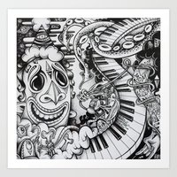 Music Is The Key Art Print