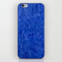 Dark Blue Stucco iPhone & iPod Skin