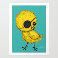That Chick with the Eye Patch Art Print