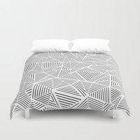 Abstraction Linear Inver… Duvet Cover
