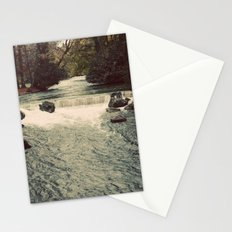 Rocky River Waterfall Englischer Garten Germany Color Photo Isar River Stationery Cards