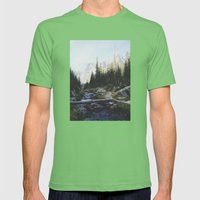 Rocky Mountain Creek Mens Fitted Tee Grass SMALL