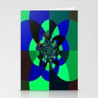 Green Blue Kaleidoscope Stationery Cards