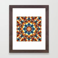 Colorful Concentric Motif Framed Art Print