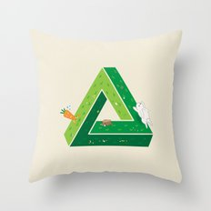 Chasing Throw Pillow
