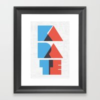 Karate Circuitry Framed Art Print