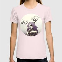 Wanderer  Womens Fitted Tee Light Pink SMALL
