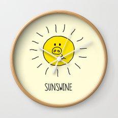 Sunswine Wall Clock