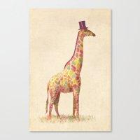 Fashionable Giraffe Canvas Print