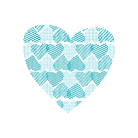 Blue, blue heart Art Print