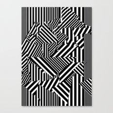 Dazzle Camo #01 - Black & White Canvas Print