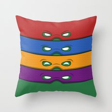 Half-Shell Heroes Throw Pillow