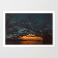 Opposite Sunset Art Print