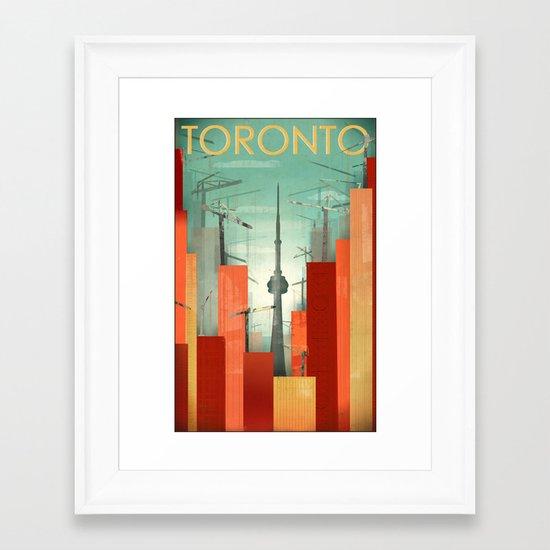 Toronto: Skyscraper City Framed Art Print
