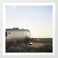 Mojave Airstream Art Print