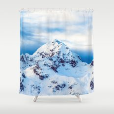 Snow Covered Mountain Shower Curtain