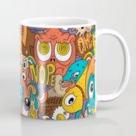 Weird Guys Pattern Mug