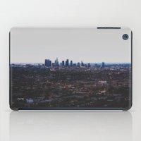 Los Angeles in fog iPad Case