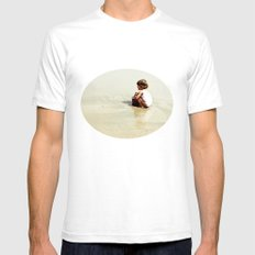 Found in the sea SMALL Mens Fitted Tee White