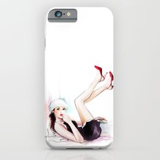 girl in red shoes iPhone 6 Slim Case