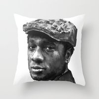 Aloe Blacc Throw Pillow