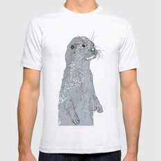 Otter Mens Fitted Tee Ash Grey SMALL