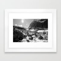 Canada Mountains Framed Art Print