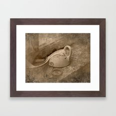 Antique cup Framed Art Print
