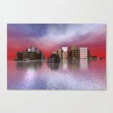 sky is on fire Canvas Print