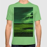 Passing Through Mens Fitted Tee Grass SMALL