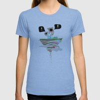Dreaming for an adventure. Womens Fitted Tee Athletic Blue SMALL