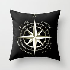 Not all those who wander are lost - J.R.R Tolkien - 2 Throw Pillow