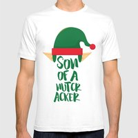 Son Of A Nutcracker Mens Fitted Tee White SMALL
