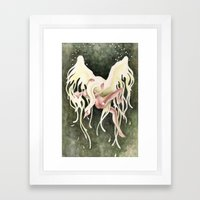 From Swan to Swoon (Leda & Zeus) Framed Art Print
