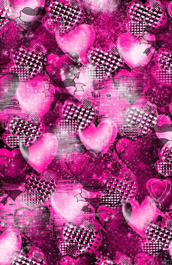Light Bulb Hearts Series (pink) Art Print