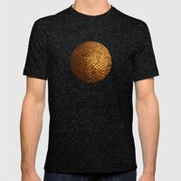 paving stone gold Mens Fitted Tee Tri-Black SMALL