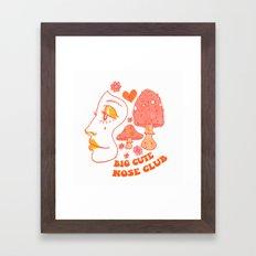 Cute Big Nose Club Framed Art Print