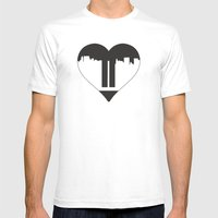 Love Gone Mens Fitted Tee White SMALL