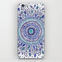 Indigo Flowered Mandala iPhone & iPod Skin