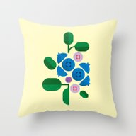 Throw Pillow featuring Fruit: Blueberry by Christopher Dina