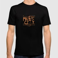 Music City Paris Mens Fitted Tee Black SMALL