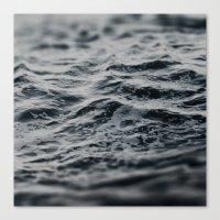 Ocean Magic Black and White Waves Canvas Print