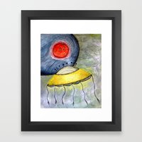 Jelly Moon Framed Art Print
