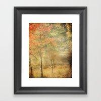 Fall Red Framed Art Print