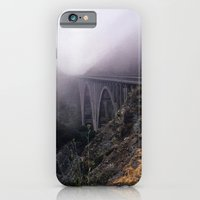 iPhone & iPod Case featuring Bridge in Fog by Anthony M. Davis